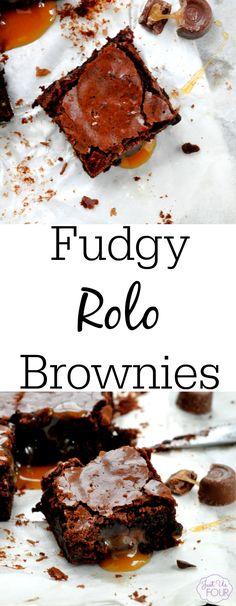 Fudgy Rolo Brownies