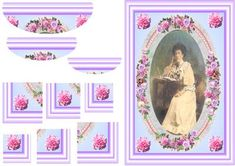 - pretty card for a lady for any reason, birthday,thank you, get well. Birthday Thank You, Pretty Cards, Decoupage, Card Making, Greeting Cards, Vintage Fashion, Make It Yourself, Lady, Frame
