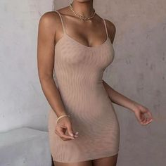 Sheer Dress, Bodycon Dress, Khaki Dress, Catwalk, Sexy, Skirts, How To Wear, Cotton, Nudes