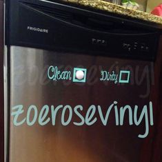 Dishwasher Clean/Dirty Vinyl Decal