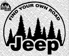 Jeep Find Your Own Road Vinyl Window Decal Adhesive Sticker 5x6 on Etsy, $6.00