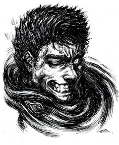 Glare by Jerrre.deviantart.com on @deviantART Gatts from the anime/manga Berserk