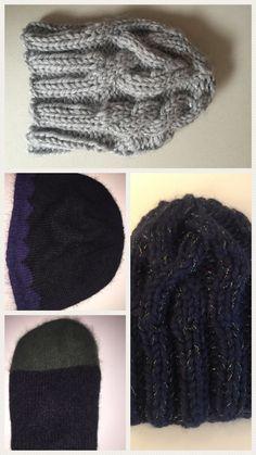I miei caldi cappellini in alpaca e cachemire. Ferri circolari. By Silvia