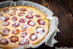 Clafoutis de ciruelas o Tarta francesa de ciruelas - Receta paso a paso - Sin Gluten