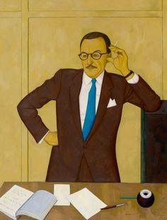 John Brack - Portrait of Tam Purves