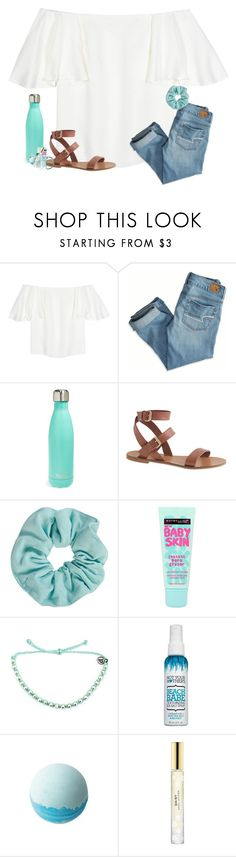"""Going mini golfing with my friends tonight!"" by ab1525 ❤ liked on Polyvore featuring Valentino, American Eagle Outfitters, S'well, J.Crew, Maybelline, Pura Vida, ULTA and Marc Jacobs"