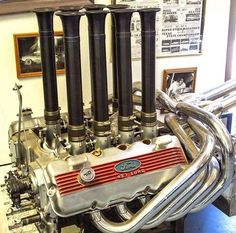 just a crazy looking setup. Motor Engine, Car Engine, Ford Racing Engines, Diesel, Ford Shelby, Ford V8, Crate Engines, Performance Engines, Vintage Racing