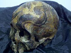Real Human Skull Art   DudeIWantThat.com