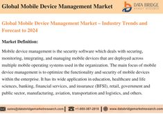 Global mobile device management market accounted for USD 2.3 billion in 2016 growing at a CAGR of 26.13% during the forecast period of 2017 to 2024. The upcoming market report contains data for historic year 2014, 2015, the base year of calculation is 2016 and the forecast period is 2017 to 2024. Mobile Device Management, Global Mobile, Information And Communications Technology, Marketing Data, Market Research, Period, Base