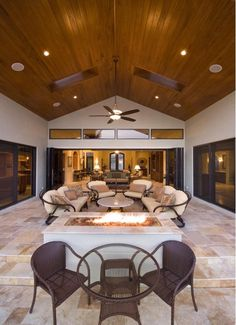 Beautiful Outdoor Structure with Built-In Fire Pit