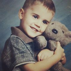 Justin Bieber as a baby