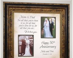 Anniversary Gift for Parents Golden Anniversary, Handmade Anniversary Gifts from PhotoFrameOriginals Custom Photo Mats - Anniversary Gift 50 Anniversary Gifts Parents Anniversary Thank You Gift For Parents, Wedding Gifts For Parents, Wedding Thank You Gifts, Unique Wedding Gifts, Personalized Wedding Gifts, Handmade Anniversary Gifts, Golden Anniversary Gifts, Anniversary Gifts For Parents, 50th Wedding Anniversary