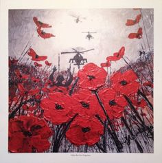 Fallen But Not Forgotten from the War Poppy Collection No.2 by Jacqueline Hurley. Professional quality print in remembrance of Our Heroes. by PortOutStarboardHome on Etsy
