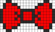 8bit Bow Perler Bead Pattern | Bead Sprites | Simple Fuse Bead Patterns