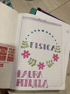 to my notebook Bullet Journal School, Bullet Journal Ideas Pages, Bullet Journal Inspiration, Lettering Tutorial, Lettering Brush, School Notebooks, Decorate Notebook, School Notes, Study Notes