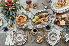 From rich autumnal-inspired place settings to a chic all-white look, get inspired with this roundup of our favorite Thanksgiving table ideas. Thanksgiving Celebration, Thanksgiving Table, Pinecone Centerpiece, Patina Farm, Best Turkey, Simple Centerpieces, White Pumpkins, Elegant Homes, One Kings Lane