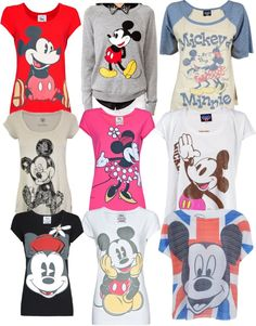 """""""Mickey Mouse t-shirts"""" by lolpystar ❤ liked on Polyvore"""