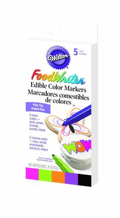 Wilton Food Writer Edible Color Markers >>> Click on the image for additional details.