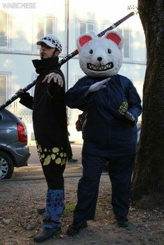 Lucca Comics 2016. Cosplay Trafalgar Law and Bepo. One Piece!