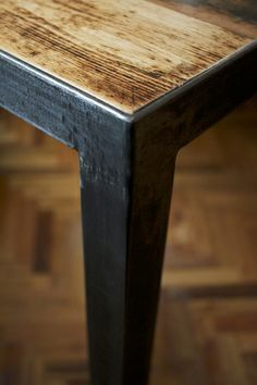 Furniture Legs Melbourne melbourne recycled timber table with modern box legs - custom made