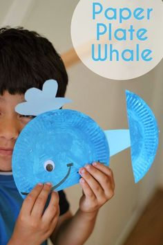 Whale Art For Kids - Whale paper bag craft. Paper Plate Whale Ocean Kids Crafts Preschool Crafts Whale Crafts Ideas to make whales with e. Ocean Kids Crafts, Whale Crafts, Crafts For Kids To Make, Art For Kids, Kids Diy, Sea Animal Crafts, Ocean Theme Crafts, Kid Art, Paper Plate Crafts For Kids