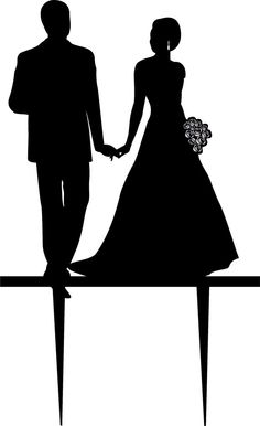 Wedding Cake Topper Silhouette Groom and by BridesmaidGiftHanger