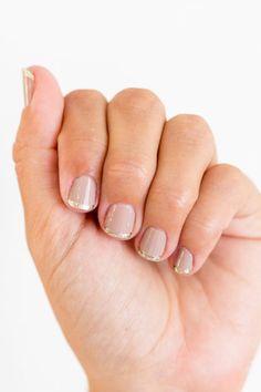 This summer try metallic nails on LaurenConrad.com