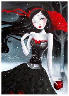 """Vrac, Poster """"Blanche comme la neige"""" est une création orginale de Sybile sur DaWanda"""