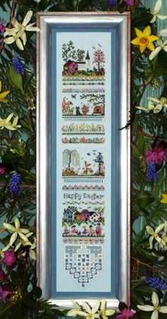 Easter Egg Hunt Sampler is the title of this cross stitch pattern from The Victoria Sampler. Please note ship time for this item to arrive as a new release. Click on highlighted link to add the Accessory Pack to your shopping cart. This is the link to the 28 Ct Ice Blue Linen (one-quarter yard option).