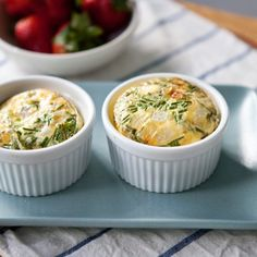 Recipe:  Ham, Cheddar & Chive Egg Bakes   Recipes from The Kitchn