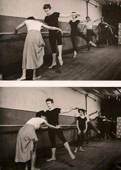 James Dean doing ballet