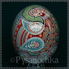 Real Ukrainian Pysanka. Ostrich Pysanky Best by Halyna. Easter Egg   Collectibles, Decorative Collectibles, Eggs   eBay!