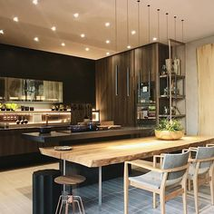 Home Interior Wall .Home Interior Wall Luxury Homes Interior, Home Interior, Kitchen Interior, Interior Plants, Kitchen Dinning Room, New Kitchen, Kitchen Decor, Kitchen Island, Home Decor Styles