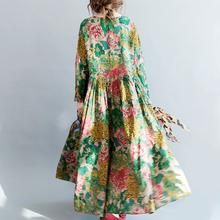 fashion floral long linen dresses plus size clothing tie waisttraveling clothing 2018 o neck maxi dresses Long Linen Dresses, Cotton Long Dress, Plus Size Maxi Dresses, Cotton Dresses, Plus Size Outfits, Casual Dresses, Maxi Floral, Oversized Dress, Maxi Robes