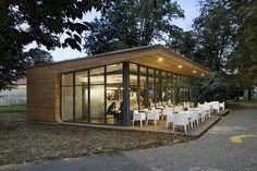 inside-outside dialogue modern cafe design
