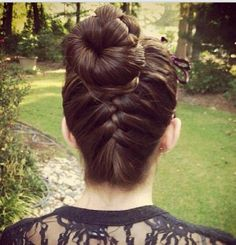 French Braid , Bun