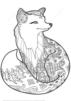 Zentangle Fox Coloring Page From Category Select 21123 Printable Crafts Of Cartoons Nature Animals Bible And Many More