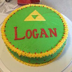The Legend of Zelda Tri-Force Cake I made my son.