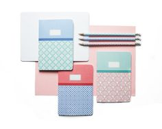 Valencia Blank Notebooks - Set of three A5 & A6