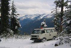 VW Vanagon Synchro - 4WD, pop-top,stove, refrigerator and bathroom?  Camping anyone?? Brendan's dream car...