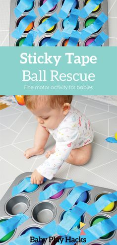 This is another great, easy to prep activity for babies working on their pincer grasp and up! Baby Sensory Play, Baby Play, Sensory Wall, Sensory Boards, Sensory Play For Babies, Infant Sensory, Baby Learning Activities, Infant Activities, Kids Learning