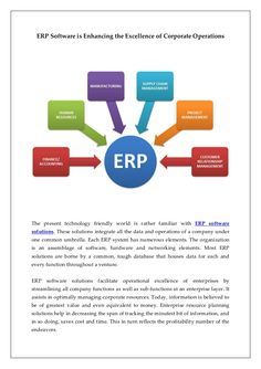 The present technology friendly world is rather familiar with ERP Software  solutions.