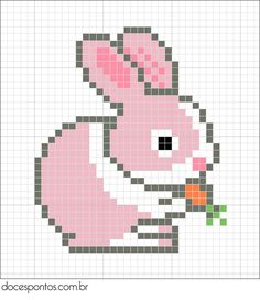 Rabbit hama perler pattern