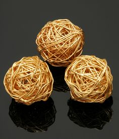 Gold Vermeil Ball of Yarn 20mm