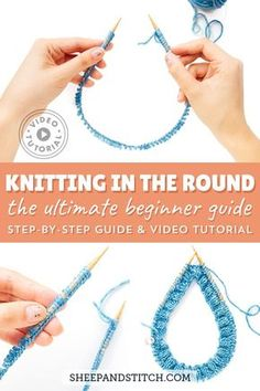 Learn how to knit on circular needles for beginners. Watch the free knitting video tutorial and photo guide, and get started knitting in the round! Knitting Gauge, Loom Knitting, Knitting Stitches, Free Knitting, Knitting Videos, Knitting For Beginners, Knitting Projects, Crochet Projects, Circular Knitting Patterns