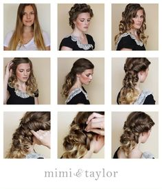 Image result for vintage updo curly hair