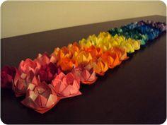 Forminhas de doces Origami Flor de Lótus