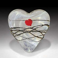 White Heart with Silver Wrap, Carlyn Galerie