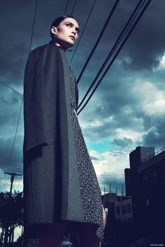 Coat Sharon Wang, Jacket Daniel Silverstain, Skirt Daniel Silverstain, Earrings We Who Prey