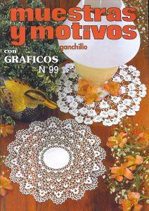 Muestras y Motivos Ganchillo Con Graficos No 99   Doilies, centerpieces, etc